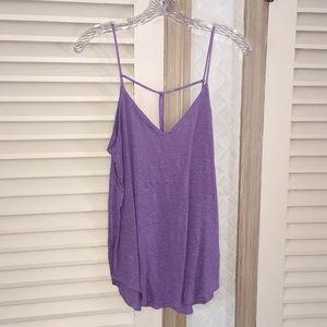 Chaser tank top purple knot string back